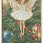 Flower Fairy of the Christmas Tree original old print