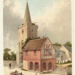 Brading Church & Town Hall Isle of Wight antique print