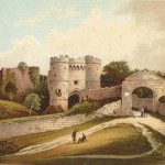Carisbrooke Castle Isle of Wight antique print
