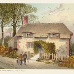 antique print of Little Jane's Cottage near Brading Isle of Wight
