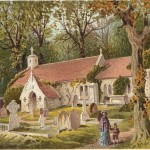 Bonchurch Old Church Isle of Wight antique print