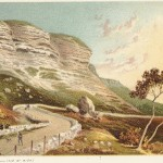 antique print of the Undercliff Road Isle of Wight