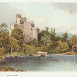 antique print of Invergarry Castle Loch Oich Scotland