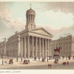 Glasgow Royal Exchange Queen Street Scotland antique print