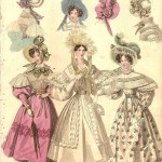fashion print from The World of Fashion and Continental Feuilletons