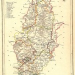 antique map of Nottinghamshire