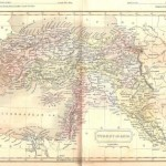 antique map of Turkey in Asia