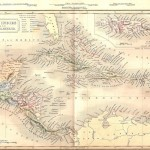 antique map of West Indies and Central America