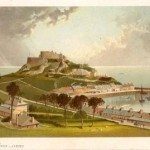 Jersey Mont Orgeuil Castle antique print