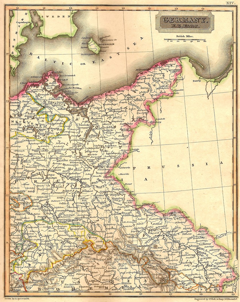 Germany North East antique map - Frontispiece