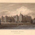 Hatfield House antique print