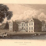Belton House Lincolnshire antique print