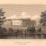 Denton House Lincolnshire antique print