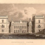 Grimsthorpe Castle Lincolnshire antique print