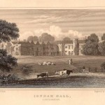 Irnham Hall Lincolnshire antique print