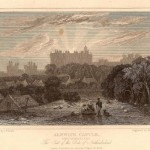Alnwick Castle Northumberland antique print