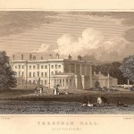 Trentham Hall Staffordshire antique print