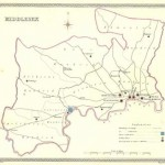 Middlesex antique map