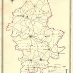 Staffordshire antique map