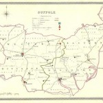 Suffolk antique map