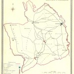 antique map of Monmouthshire