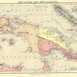 antique map of New Guinea New Caledonia.