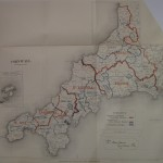 Cornwall antique map