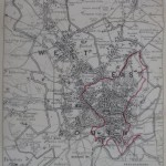 Nottingham antique map 1888