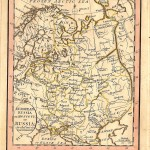 Russia Moscovy antique map for sale