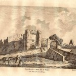 carisbrooke castle antique print