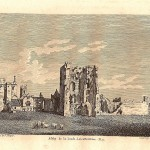 Ashby-de-la-Zouch Castle antique print