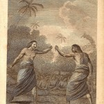 Tonga Hapaee Boxing Match antique print