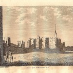 alnwick castle northumberland antique print for sale