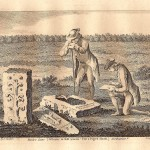 monk's stone Tynemouth Northumberland antique print for sale