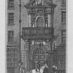 antique print Mercers' Hall, Cheapside, 1811.