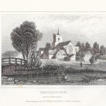 antique print Broxbourne, Hertfordshire, 1845