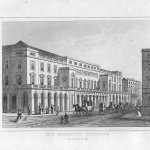antique print Her Majesty's Theatre London 1845