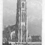 Boston Church Lincolnshire antique print 1845