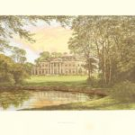 Broadlands Hampshire antique print