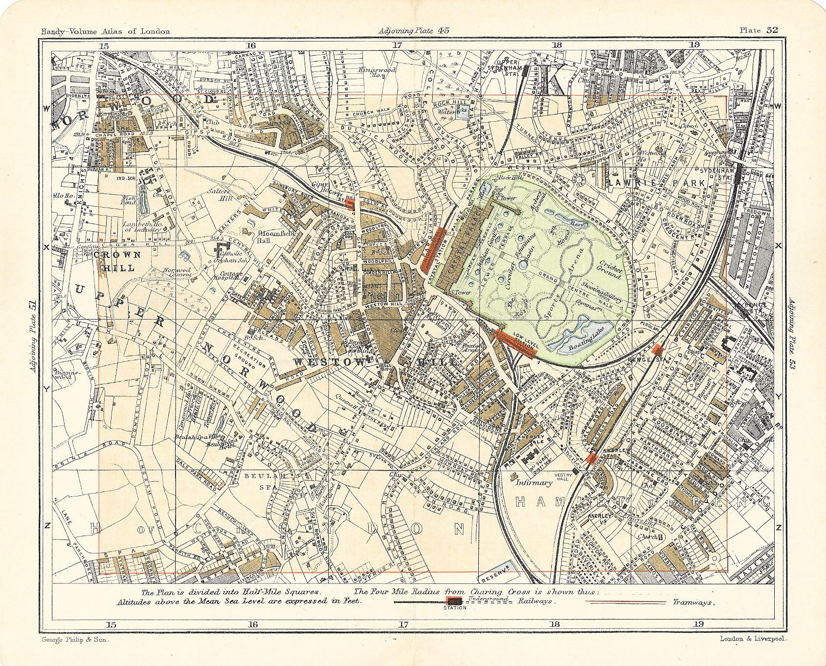 Crystal Palace antique map 1902 - Frontispiece