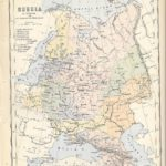 russia in europe antique map 1882