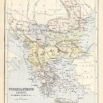 turkey in europe antique map 1882
