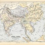 india china antique map 1882