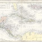 west indies central america antique map 1871
