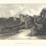 Carisbrooke Castle hampshire Isle of White antique print 1895