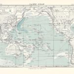 pacific ocean antique map encyclopaedia britannica