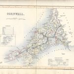 Cornwall antique map 1845 Dugdale