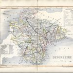 Devon antique map 1845 Dugdale