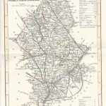 Staffordshire antique map 1845 dugdale