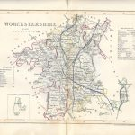 Worcestershire antique map Dugdale 1845